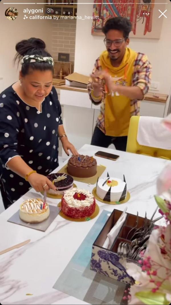India Tv - Bharti Singh celebrates birthday with Jasmin-Aly