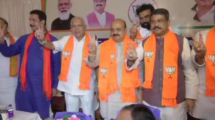 The BJP on Tuesday named Basavaraj Bommai (Left to BS