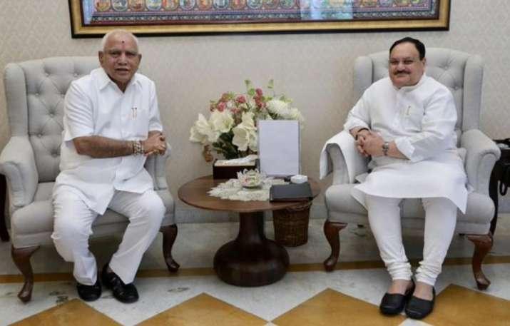 India Tv - Yediyurappa meets Nadda
