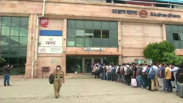 Delhi Metro, metro trains, trains start running, 100 percent seating capacity, standing not allowed,