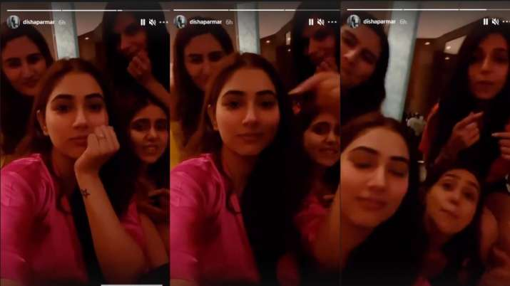 India Tv - Inside bride to be Disha Parmar's at-home bachelorette party