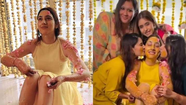 #Dishul Wedding: Inside pics, videos from Disha Parmar's Haldi ceremony go viral. Seen yet?
