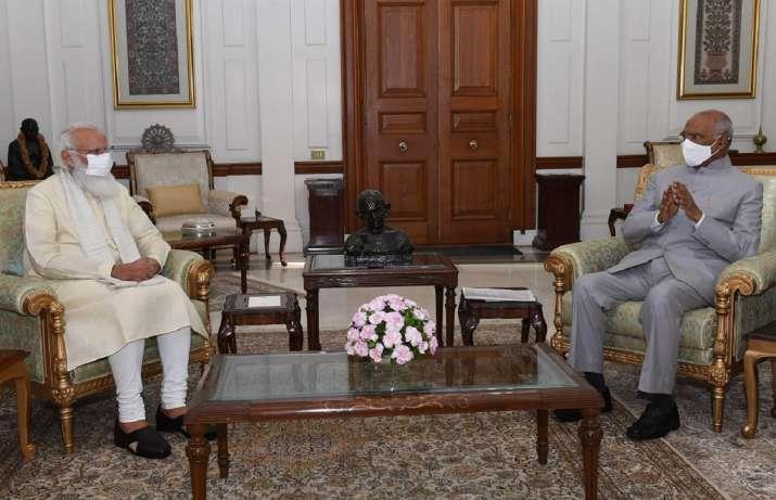 pm modi president kovind meeting, pm president meeting, modi kovind meet,