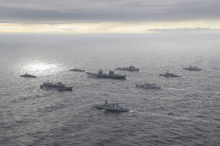 HMS Queen Elizabeth enters Indian Ocean