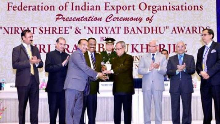 """India Tv - We were awarded the """"Niryat Shree"""" (Excellence in Exports) by the Federation of Indian Export Organisations which was presented over by His Highness Honourable President of India, Dr. Pranab Mukherjee."""