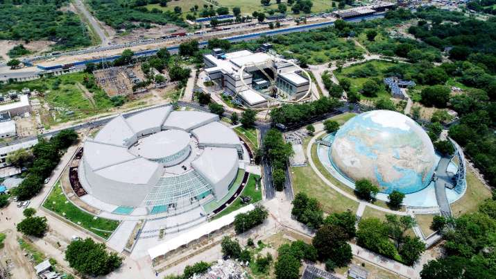 Top view of Gujarat Science City a day before its