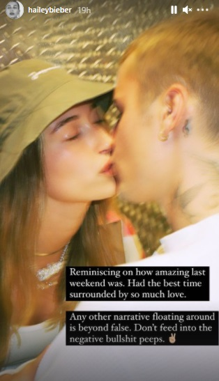 India Tv - Hailey Baldwin shares cosy pic with husband Justin Bieber; rubbishes rumours of rift between couple
