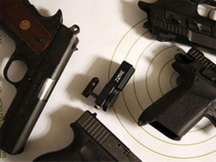 gun firing in air
