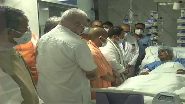 BJP national president JP Nadda meets ailing former Chief