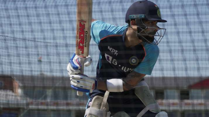 Virat Kohli hits the nets after a three-week break, charms fans with practice photos.