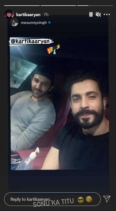 India Tv - Kartik Aaryan heads out with Sunny Singh