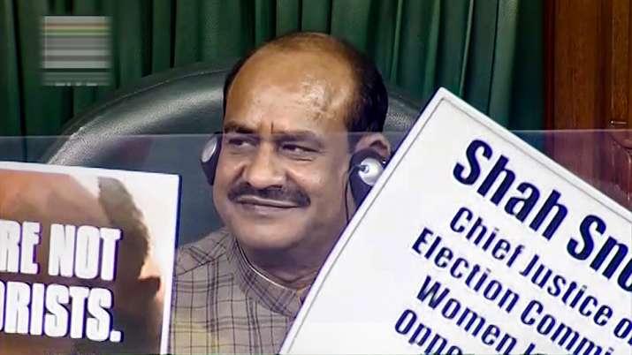 lok sabha opposition throwing video
