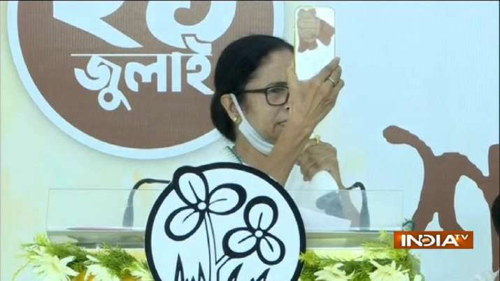 Mamata Banerjee was addressing the people online on
