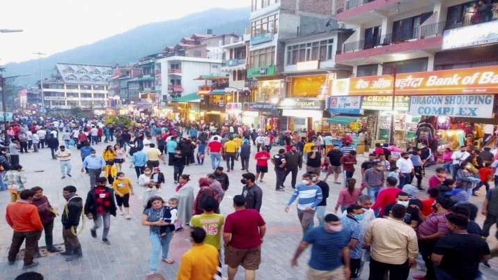 FILE | Crowded Mall road after further ease in COVID-19