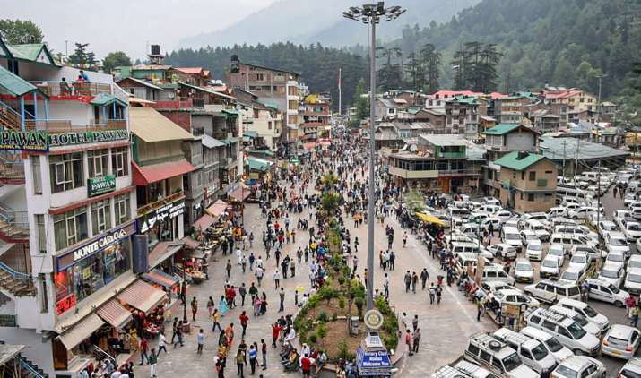 Tourists visit the Mall Road after relaxation in COVID-19