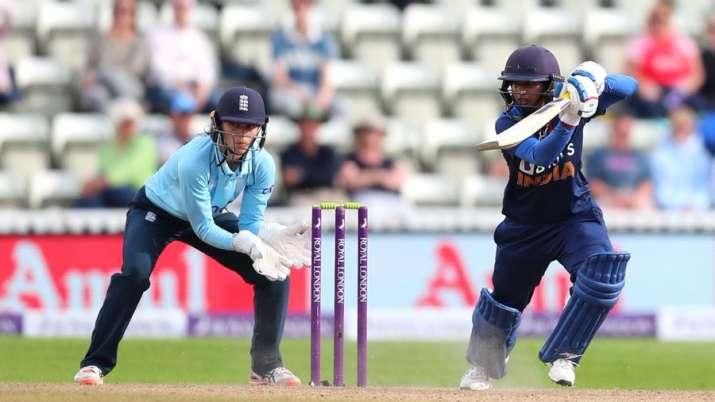 MithaliRajscored an unbeaten 75 to help India win