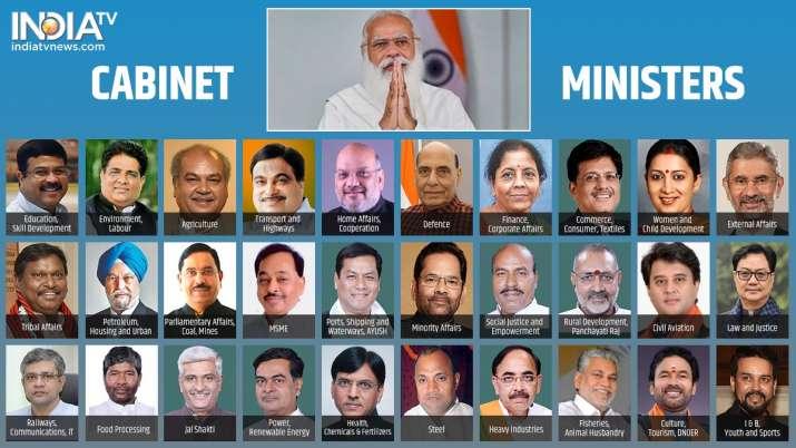 India Tv - modi cabinet,new cabinet ministers,new ministers,new cabinet ministers full list, modi ministers