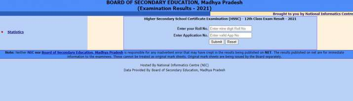 India Tv - MPBSE Class 12 result 2021