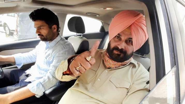 Congress leader Navjot Singh Sidhu leaves for Amritsar from