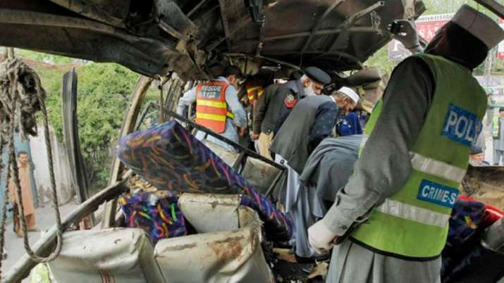 Blast in bus in Pakistan's Khyber Pakhtunkwha province