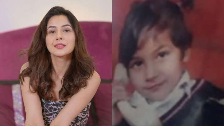 Shehnaaz Gill looks as pretty as a button in THIS childhood photo