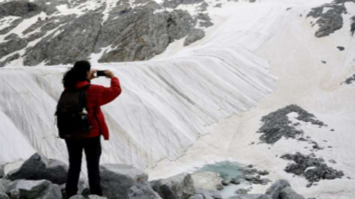 Climate Experts cover shrinking Italian glacier with cloth; watch viral video