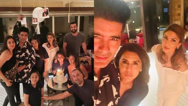 Riddhima-Ranbir Kapoor and Manish Malhotra join forces with Neetu Kapoor to celebrate birthday celebrations    PHOTOS