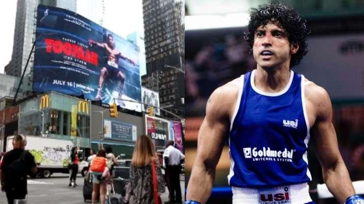 Farhan Akhtar's dream comes true as Toofaan gets billboard in Times Square