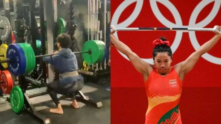 Inspired by the Tiger Shroff Mirabai Chanu, he lifts 140 kg in barbell squats;  Jackie Shroff reacts