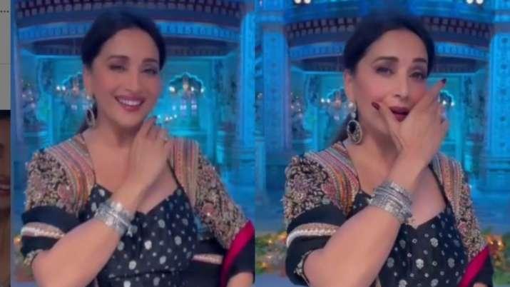Madhuri Dixit's beautiful dance to the tunes of 'Kajra Mohabbat Wala' sweeps the internet | Watch