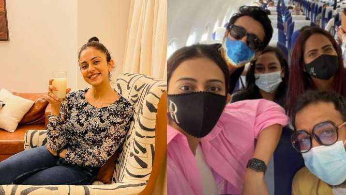 Rakul Preet Singh heads to Bhopal for shooting of Doctor G; shares pic from aircraft