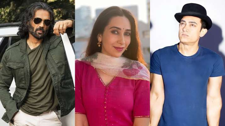 Indian Idol 12: Karisma Kapoor calls Suniel Shetty, Akshay Kumar and Aamir Khan the biggest robins