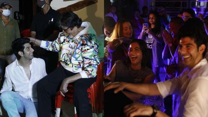 Goodbye wrap up party: Amitabh Bachchan turns DJ, Rashmika
