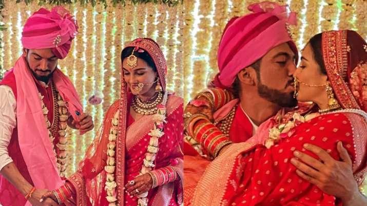 Pandya Store fame Shiny Doshi marries Lavesh Khairajani; pic of newlyweds kissing goes viral
