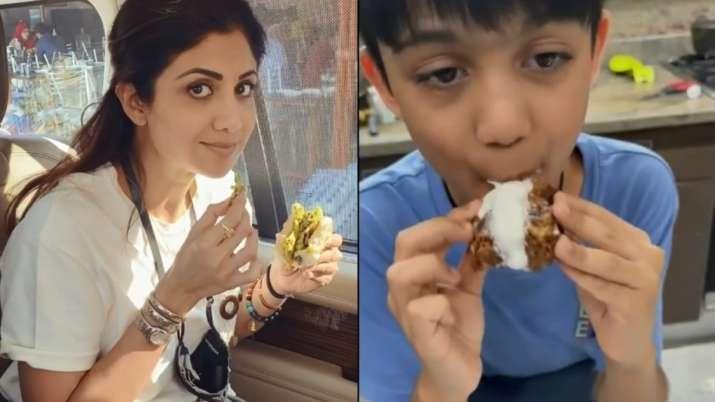 Shilpa Shetty's son Viaan Raj Kundra leaves internet in splits with his version of 'Sunday Binge'