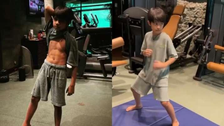 Shilpa Shetty's son Viaan's workout video takes the internet by storm, inspires aunt Shamita Shetty