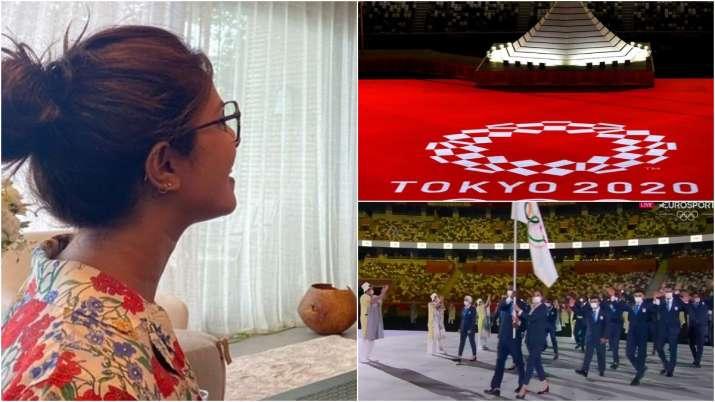 Tokyo Olympics 2020 Opening Ceremony: Priyanka Chopra Aditi Rao Hydari, celebrities cheer on India