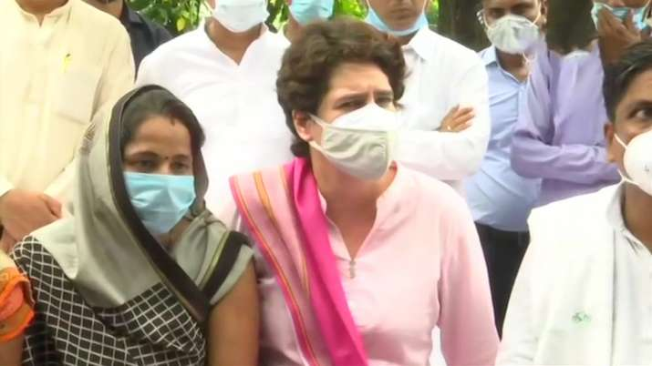 Priyanka Gandhi Vadra is on a two-day visit to the capital