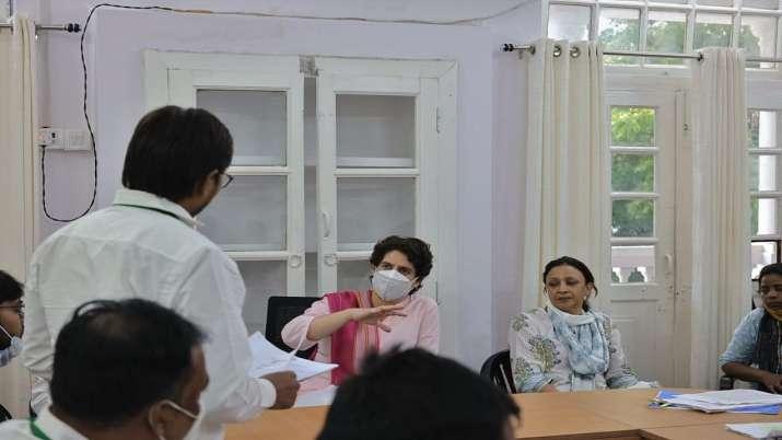 Priyanka Gandhi Vadra during her two-day visit to Lucknow,