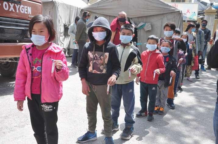 children covid positive in mizoram