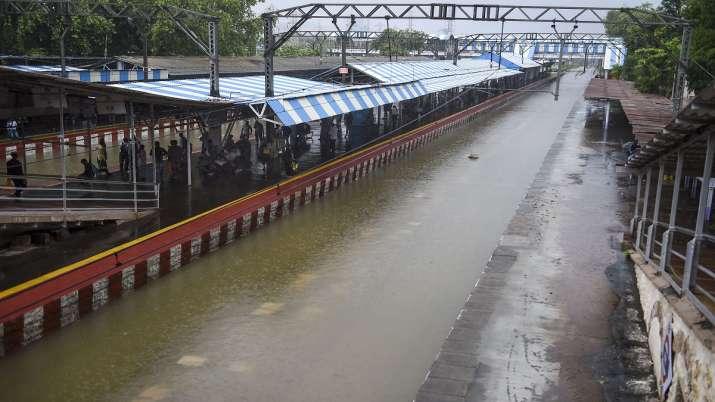 Maha rains, Floods in Maharashtra, Konkan floods, Konkan rains, Railway lines submerged