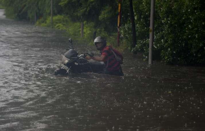 India Tv - delhi rains waterlogging