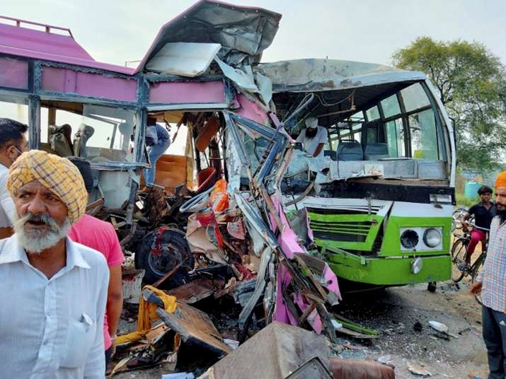 bus accident moga congress workers dead