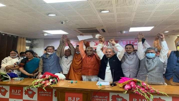 Bharatiya Janta Party names Pushkar Singh Dhami as the next