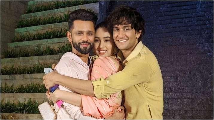 Rahul Vaidya, Disha Parmar and Vikas Gupta
