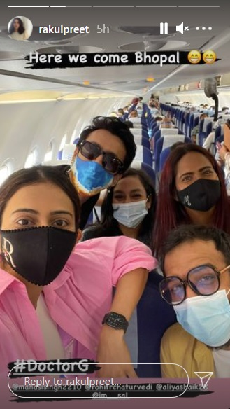 India Tv - Rakul Preet Singh heads to Bhopal for shooting of Doctor G; shares pic from aircraft