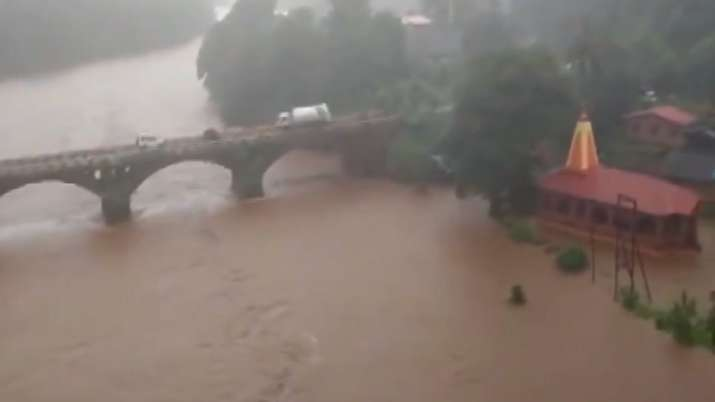 Parts of Ratnagiri district partially submerged in water