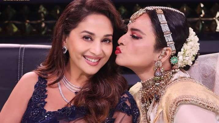Dance Deewane 3: Rekha rotates his hit songs, plants a kiss on Madhuri Dixit's cheeks latest TV news