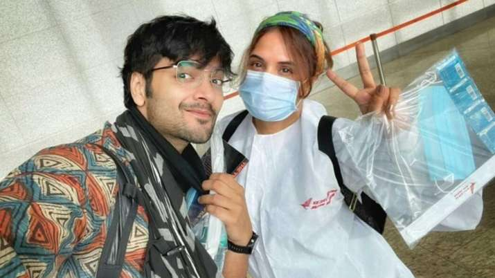 Richa Chadha, Ali Fazal Dehradun, for a teaser session of the production project in their countries