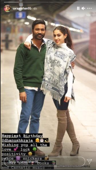 India Tv - Happy Birthday, Dhanush: Akshay Kumar, Sara Ali Khan extend warm wishes to 'Atrangi Re' co-star